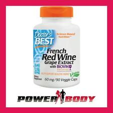 Doctor's Best - French Red Wine Grape Extract with Biovin, 60mg - 90 vcaps