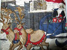 Woodward SILK Xmas Tie Necktie 56 x 3.75 red white beige CHRISTMAS 14197