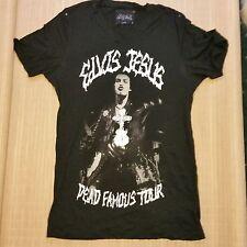 Elvis Jesus Designer T Shirt Sid Vicious Tour Design  Size L