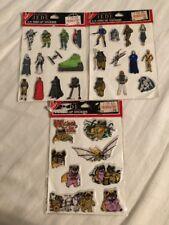 3 Pks New Vintage Return of the Jedi Ewok Star Wars 3-D Perk Up Puffy Stickers