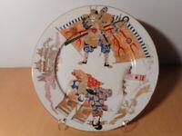 Assiette ancienne porcelaine japonaise Arita Japon Meiji 19 siècle samourai