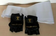 Gold's Gym Mex Lift Leather Weight Lifting Gloves - Body Building Exercise Train