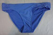 Jessica Simpson Bikini Bottom Sz XL Lush Blue Side Tab Shirred Crochet Swim Pant