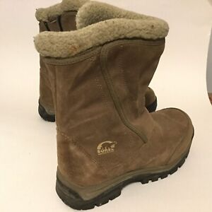 Sorel Water Fall Women's Winter Boot 7 Tan Suede Shearling Insulated Waterproof