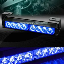 "9.5"" LED BLUE TRAFFIC ADVISOR EMERGENCY WARNING FLASH STROBE LIGHT UNIVERSAL 6"