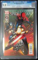 Amazing Spider-Man #656 Marvel Comics CGC 9.8 Captain America Variant New Armor
