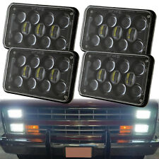 4x6'' LED Projector Headlights For Kenworth Peterbilt Freightliner Chevy Trucks