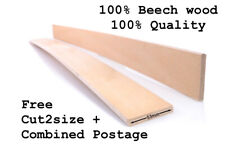 53 mm wide Beech Wood Replacement Bed Slats Curved Sprung Single Double Grade A