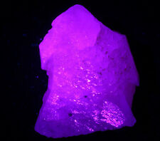 """118.1g Rare and beautiful terrace""""Fluorescence"""" Calcite Crystal Mineral Specimen"""