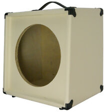 1x12 Guitar Speaker Extension Cabinet Empty Ivory white Texture Tolex