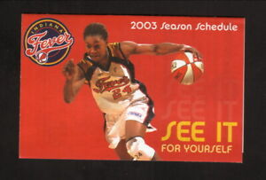 Indiana Fever--Tamika Catchings--2003 Pocket Schedule--Sport Graphics Printing