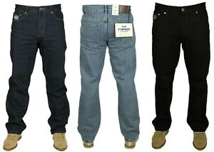 Mens Regular Fit Casual Jeans Smart Work Wear Big King Size Waists 30-60 S-R-L