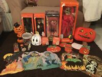 Lot Vintage Halloween Decorations Telco Motionettes Red Death-Diecuts-Candles