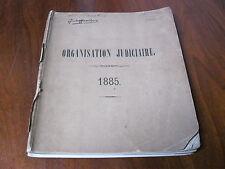 Organisation judiciaire 1885 Memorial des Großherzogtums Luxemburg Buch