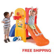 Play Slide Kids Climber Sports Outdoor Basketball Play All Star Hoop Step2 NEW