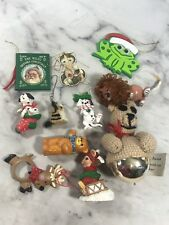 Mixed Lot of 11 Various Youth Christmas Ornaments Tree Holiday Decorations