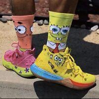 New Kyrie SpongeBob Collage Customized Socks Patrick Size 9-12