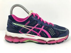 ASICS Gel-Kayano 22 Blue Pink Athletic Running Shoes Sneakers Women's Size 6
