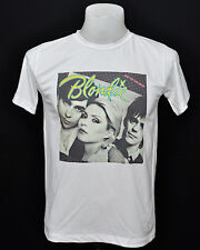 White crew t-shirt Blondie eat to the beat indy punk rock cotton CL tee size L