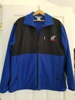 NCAA Columbia Men's Fleece Jacket Kansas Jayhawks EMBROIDERED Large Blue