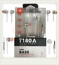 Silver JBL T180 Aluminum In Ear Headphone Earbuds Tangle  Free Shipping