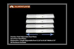 Set of Four Stainless Steel Heat Plates for Brinkmann 810-2410-S 810-2411-F 8...