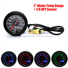 52mm Analog/Digital Dual Display 7 Colors LED Car Water Temp Gauge With Sensor