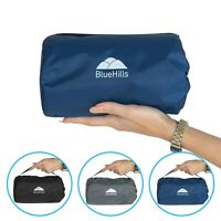 BlueHills Ultra Compact Portable Large Blanket for Airplane Travel Flight -Navy