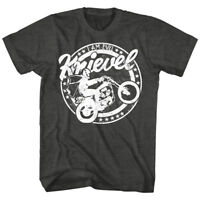 OFFICIAL Evel Knievel Vintage Motorcycle Circle Men's T-Shirt Stunt Rider Biker
