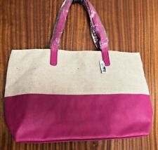 Lovely Aldo Medium Sized Shoulder Tote Bag Pink and Hessian