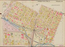 1908 JERSEY CITY, HUDSON COUNTY NEW JERSEY 12TH ST -  FRANKLIN ST ATLAS MAP