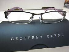 GEOFFREY BEENE EYEGLASS FRAMES Style ENGAGE in PURPLE  50--18-135 W/ Case
