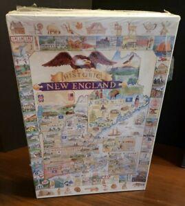 HISTORIC NEW ENGLANDVtg. 1991 White Mountain Graphics 1000 Piece Puzzle SEALED