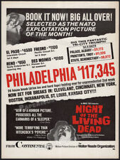 NIGHT OF THE LIVING DEAD__Original 1968 Trade Print AD / box office film promo