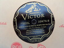 VICTOR 78 RECORD 20476/GEORGE OLSEN/WARING'S PENNSLYVANIANS/ AT SUNDOWN/ EX