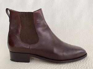 Tanino Crisci Italy Handmade Brown Leather Chelsea Mens Boots Sz.UK9.5 - US10.5