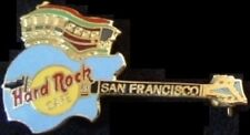 Hard Rock Cafe SAN FRANCISCO 1995 Cable Car GUITAR PIN - HRC #33050 Grid Box 3LC