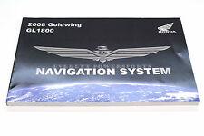 New Navigation GPS Manual 2008 GL1800 Goldwing OEM Honda Nav Book       #L19