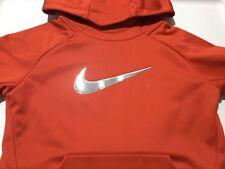 NWT New NIKE THERMA Dri Fit Boys Girls Red Hoodie Sweatshirt Size 4 X-Small $38