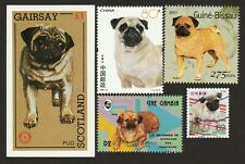 PUG ** Int'l Postage Stamp Art Collection ** Great Gift Idea **