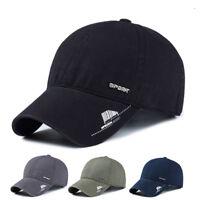 PT_ Lk _ Uomo Moda Tinta Unita Cappello Baseball Regolabile con Visiera Snapba