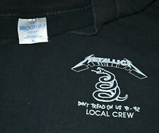 1991-92 Metallica Vintage Rock Concert Tour T-Shirt (L/XL) 27.4ms Rare Métal