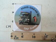 STICKER,DECALS DAF SET 4A 10 PARIS-DAKAR DAF TRUCK STICKERS 1982-1988