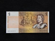 1982 JOHNSTON STONE LAST PREFIX AUSTRALIA $1 NOTE - (aUNC) - DPS 555013 -