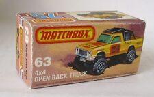 Repro box Matchbox Superfast nº 63 4 x 4 Open back Truck