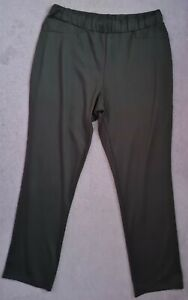 LADIES DARK GREY PULL ON LEISURE TROUSERS SIZE 16 INSIDE LEG 31 INCHES