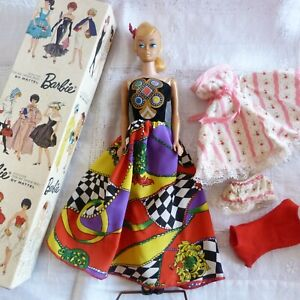 Vintage 1962 Teen Age Fashion Model Barbie, blonde ponytail 850 in box