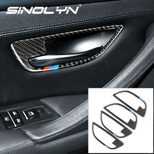 4 Pcs Inner Door Handle Bowl Décor Stripe Trim For Bmw F10 528i 535i Accessories