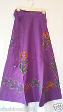 Women Clothing Cotton Long Wrap Skirt Summer Dress African Purple Free Size