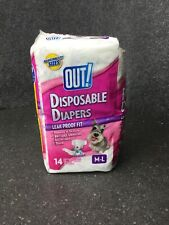 OUT! Disposable Dog Diapers Leak-Proof Disposable M/L Opened Missing M12C
